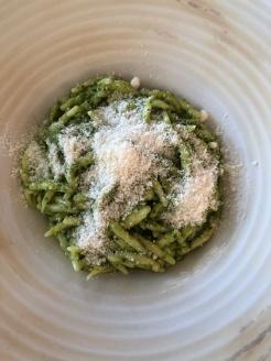 Trofie pasta with basil pesto